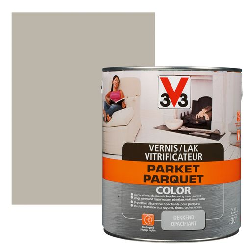 Vitrificateur V33 Parquet Color cendre satin 2,5L