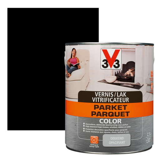 Vitrificateur V33 Parquet Color noir satiné 2,5L