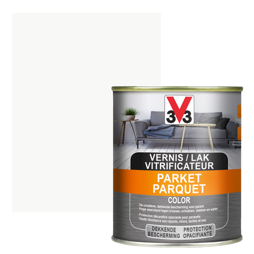 Vitrificateur parquet V33 Color blanc satiné 750ml
