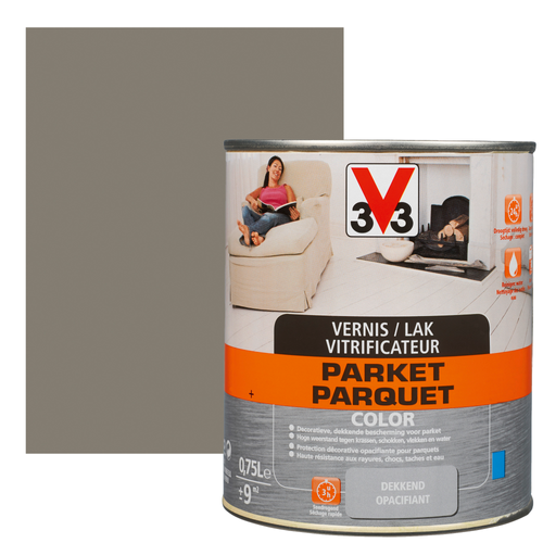 Vitrificateur parquet V33 Color poivre satiné 750ml