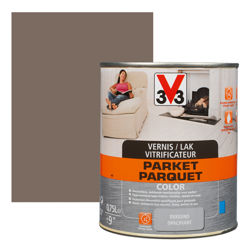 Vitrificateur parquet V33 Color vison satiné 750ml