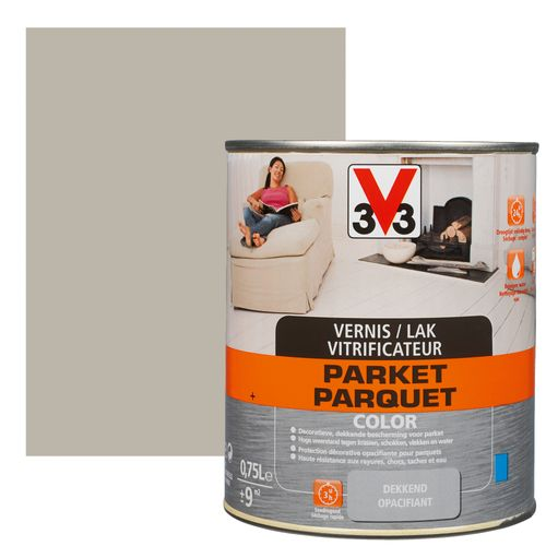 Vitrificateur parquet V33 Color cendre satiné 750ml
