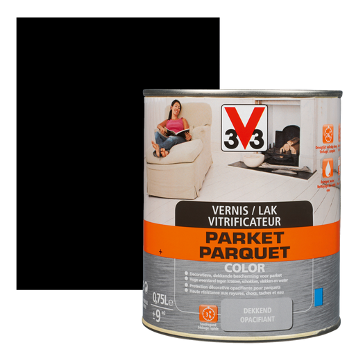 Vitrificateur parquet V33 Color noir satiné 750ml