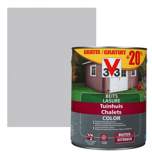 Lasure V33 Color chalets pure everest satiné 2,5L + 500ml gratuits