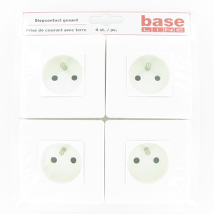 Prise Baseline avec terre blanc - 4 pcs