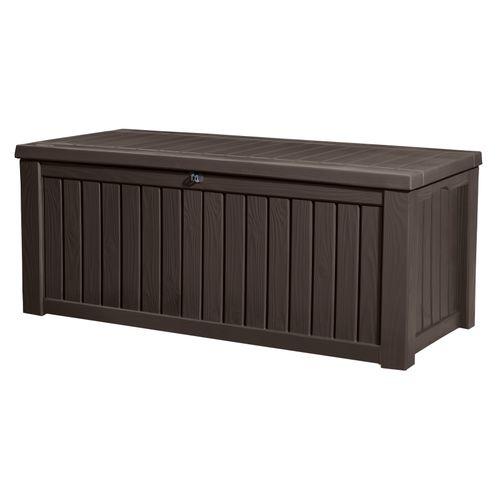 Coffre de jardin Keter Rockwood brun 570L 155x72,4cm