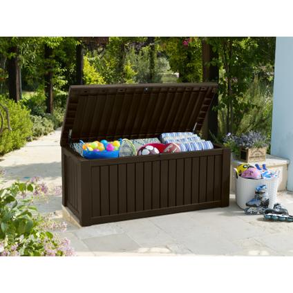 Coffre de jardin Keter Rockwood brun 155x72,4cm