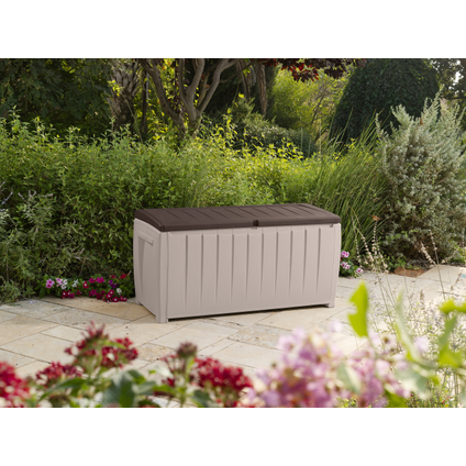 Coffre de jardin Keter Novel beige brun 125x55cm