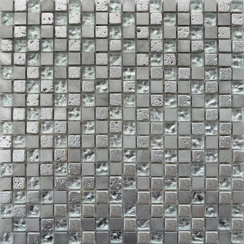 Carrelage mosaïque Fantasia mix argent 30x30cm