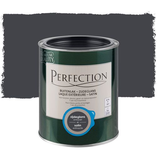 Perfection buitenlak zijdeglans antraciet 750ml