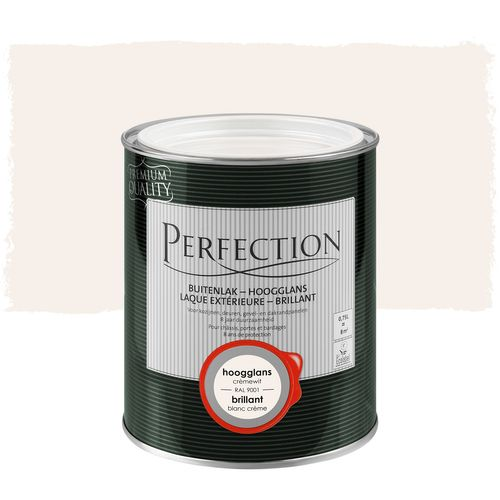 Perfection buitenlak hoogglans crèmewit RAL 9001 750ml