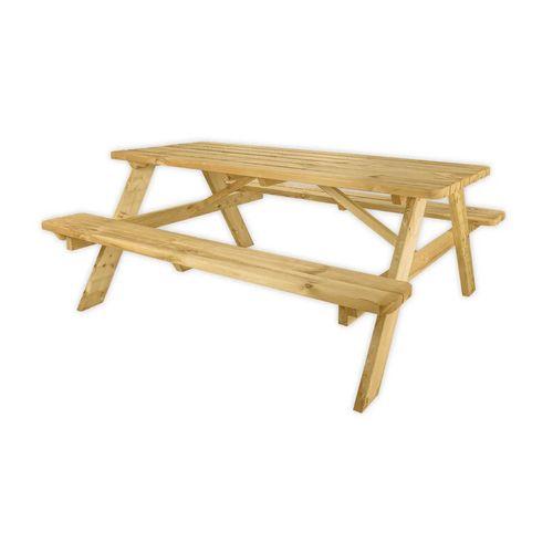 Houten picknicktafel met bank
