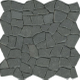 Mozaïek tegel Beach Lava zwart 29,4x29,4cm