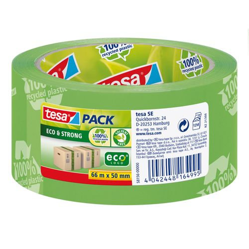Pack Tesa Eco & Strong tape d'emballage vert 50mmx66m