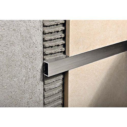 Listel Progress profiles 'Prolistel P All' aluminium chromé 2,7 m