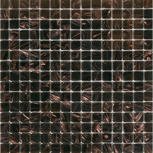 Mozaïek tegel glas Vision donkerbruin 32,7cm x 32,7cm