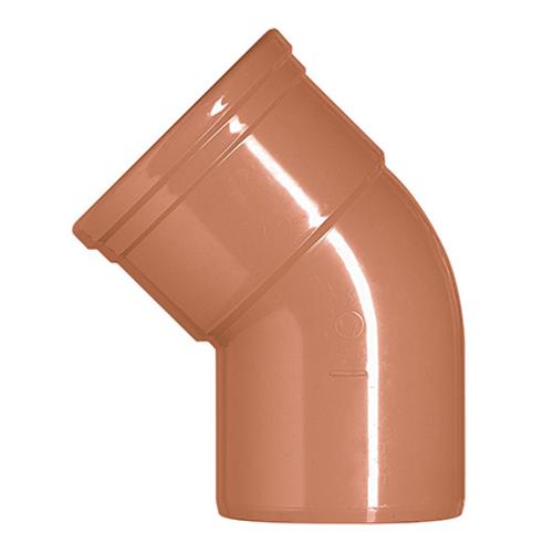 Martens bocht PVC rood 45° 110 mm