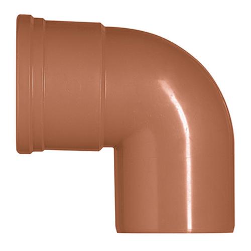 Martens bocht PVC rood 87° 110 mm