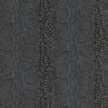 Papier peint intissé 'Reptile' noir 53 cm x 10 m