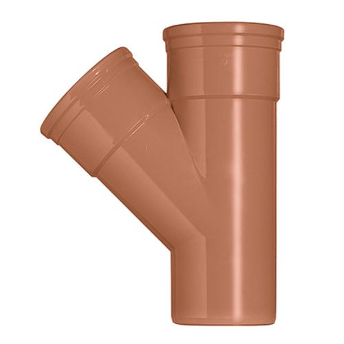 Martens T-stuk PVC rood 45° 110 x 110 mm