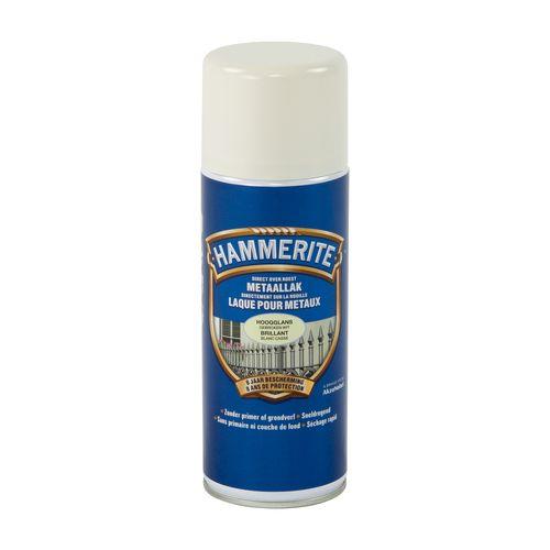 Spray laque métaux Hammerite brillant blanc cassé 400ml
