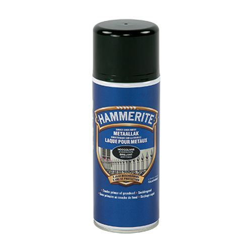 Spray laque métaux Hammerite brillant vert foncé 400ml