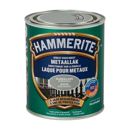 Spray laque métaux Hammerite gris argenté satin 750ml