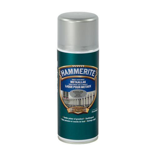 Spray laque métaux Hammerite gris argenté satin 400ml