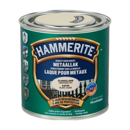 Laque métaux Hammerite satiné blanc cassé 250ml