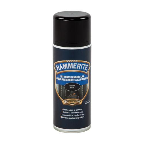 Hammerite hittebestendige lak zwart 400ml