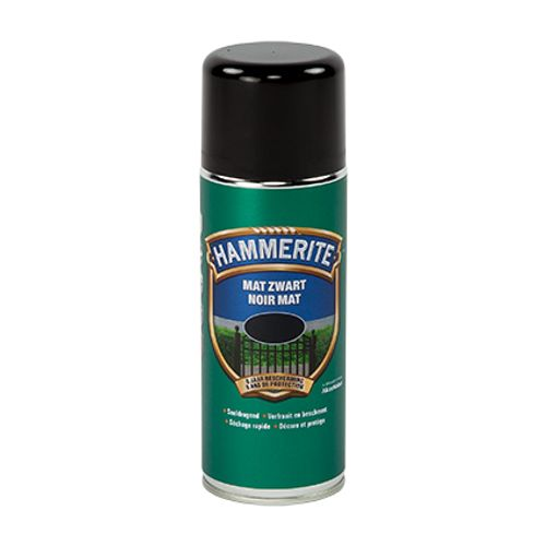 Spray laque métaux Hammerite noir mat 400ml