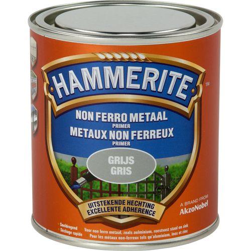 Hammerite non ferro metaal grijs 500 ml