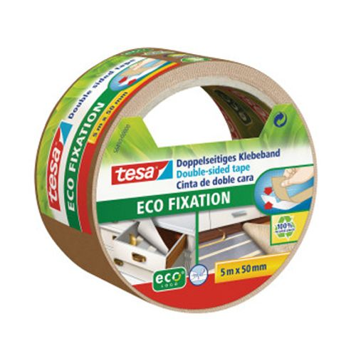 Ruban adhésif Tesa 'Eco Fixation' chamois 5 m x 50 mm