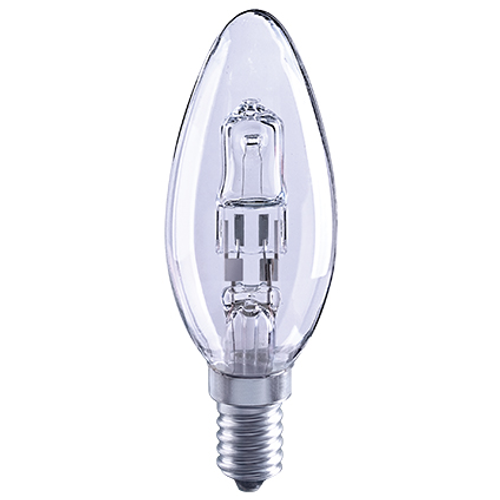 Sencys halogeenlamp 'EcoHalo kaars' 18W – 2 stuks