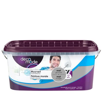 Decomode muurverf mat muisgrijs 2,5L