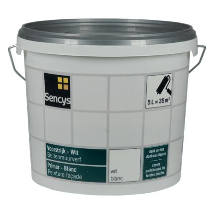 Sencys primer voor gevel wit 5L