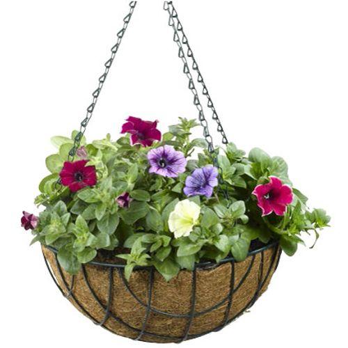 Hanging basket antraciet 25cm