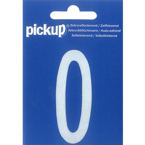 PickUp huisnummer '0' wit 70 mm