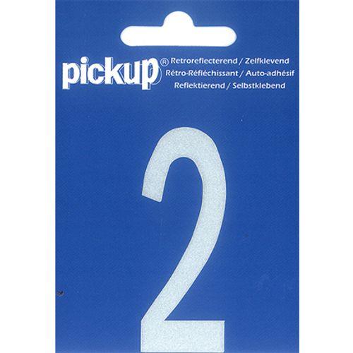 PickUp huisnummer '2' wit 70 mm