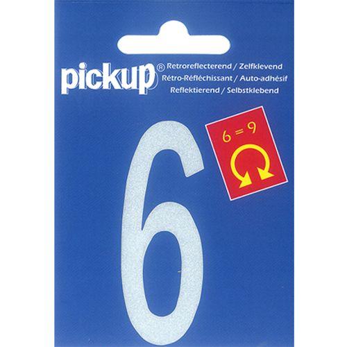 PickUp huisnummer '6/9' wit 70 mm