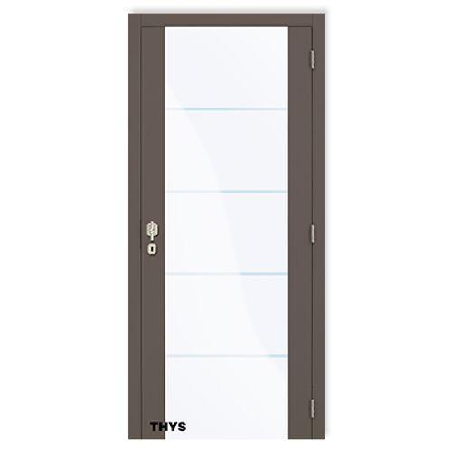 Bloc-porte Thys 'Concept Serie 5 Design 1510 New Glass' à peindre 83cm