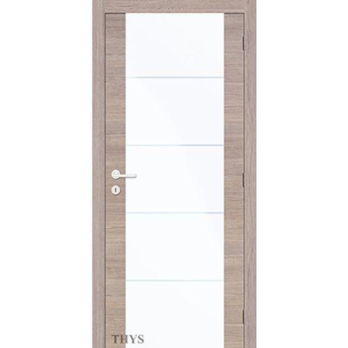 Bloc-porte Thys 'Concept S63 New Glass 1510' chêne gris horizontal 83cm
