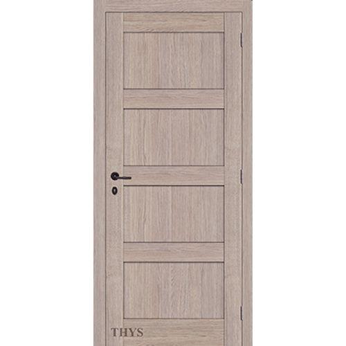 Bloc-porte Thys 'Concept S63 Quadra' chêne gris vertical 83cm
