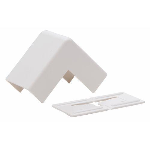 Kopp buitenhoekstuk kabelgoot 25x13mm wit