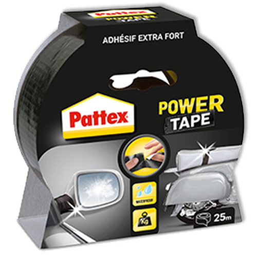 Pattex power tape zwart 25m