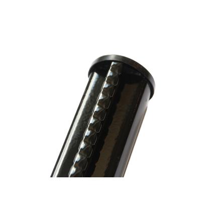 Poteau profilé Giardino noir 48 mm x 225 cm