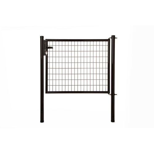 Giardino enkele poort Napoli H 120 x L 125cm zwart
