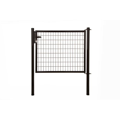 Giardino enkele poort 'Napoli' zwart 150 x 125 cm