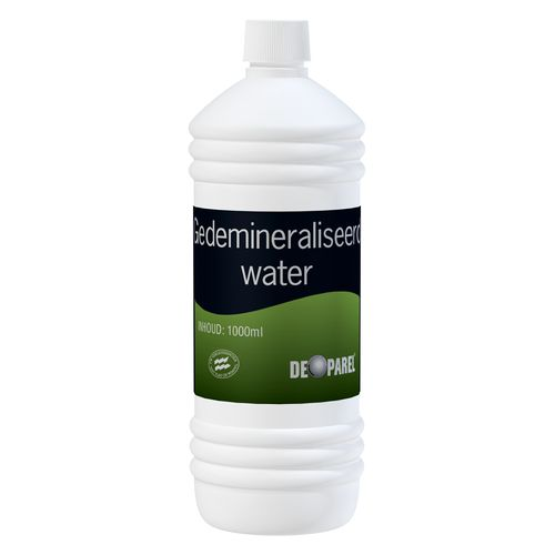 De Parel gedeminiraliseerd water 1 l