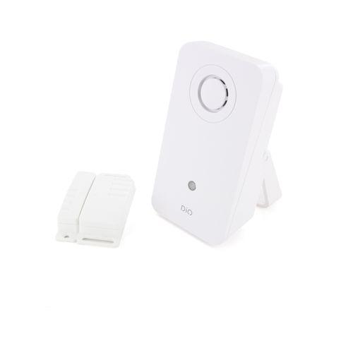 DiO draadloze deurbelset Design + witte openingssensor 200m